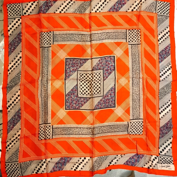 RARE 1960's geometric scarf by Henri Valois